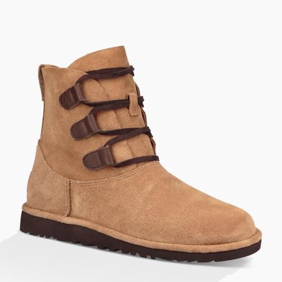 0c88b2cd0de UGG Elvi Chestnut Suede Lace Up Ankle Boot 🌲🌰
